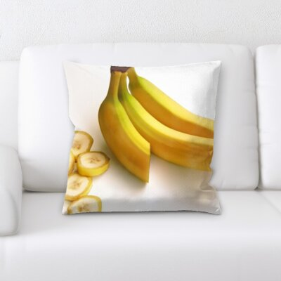 Besaw Fruits Banana on a White Background Throw Pillow