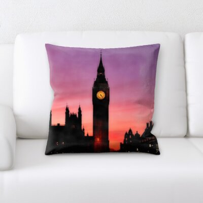 Gunderson London Sunset Throw Pillow