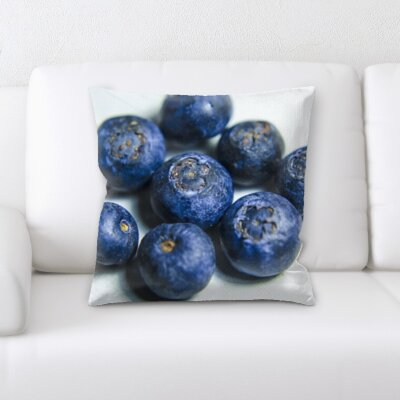 Besser Fruits Berries on a White Background Throw Pillow