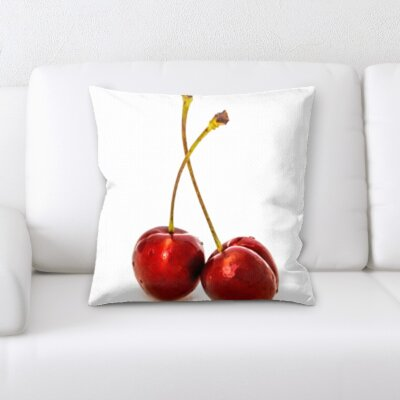 Betances Fruits Cherry on a White Background Throw Pillow