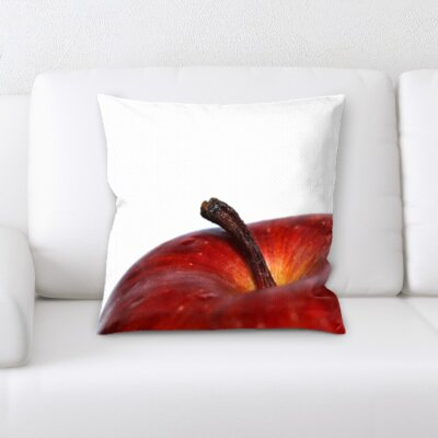 Betancourt Fruits Close Up Apple on a White Background Throw Pillow