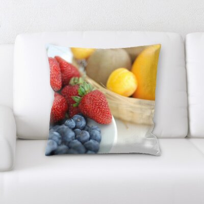 Bevins Fruits In a Bowl Throw Pillow