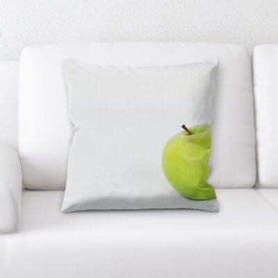 Bewley Fruits Green Apple on a White Background Throw Pillow