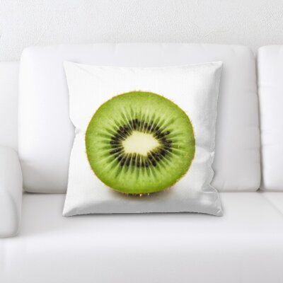 Guerriero Fruits Kiwii on a White Background Throw Pillow