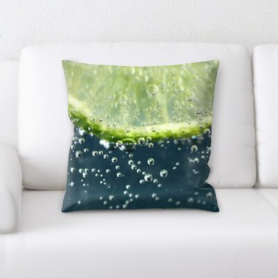 Biggerstaff Fruits Lime Droplets Throw Pillow
