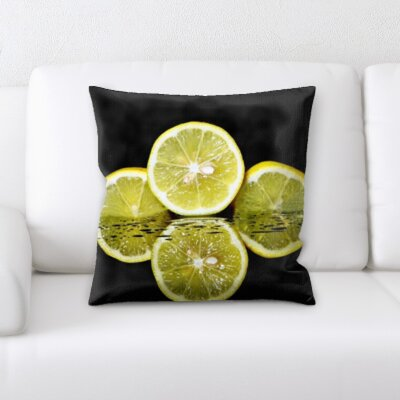 Biggins Fruits Lime Reflection Throw Pillow