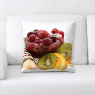 Bigley Mixed Fruits on a Plate Throw Pillow