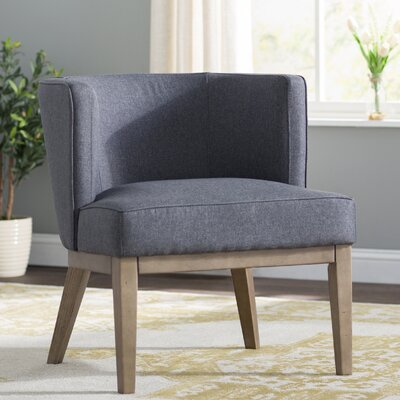 Barnard Barrel Chair Upholstery: Slate Gray
