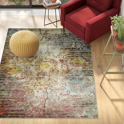 Ravenstein Pink/Brown Area Rug Rug Size: Rectangle 53 x 72