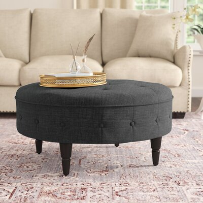 Cocktail Titusville Ottoman Upholstery: Charcoal