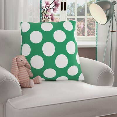 Reva Polka Dot 100% Cotton Throw Pillow Color: Green