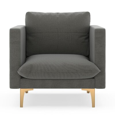 Crofoot Armchair Upholstery: Pebble, Finish: Chrome
