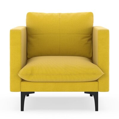 Crofoot Armchair Upholstery: Daffodil, Finish: Black