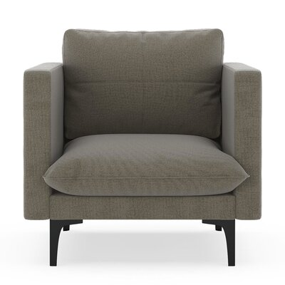 Crofoot Armchair Upholstery: Smoke, Finish: Black
