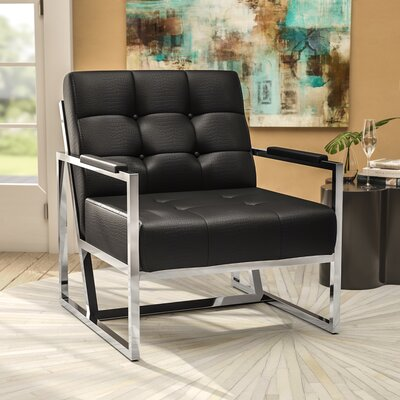 Millie Guest Chair Seat Color: Black Croc