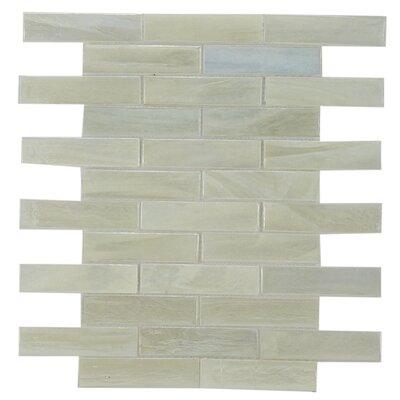 Laguna 1 x 2 Glass Subway Tile in Pearl White