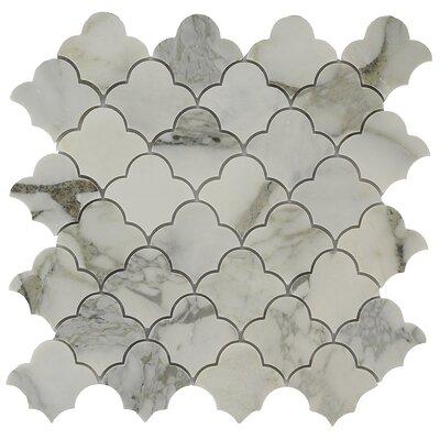 Antelope Cloudia 2 x 2 Marble Mosaic Tile in White/Tan