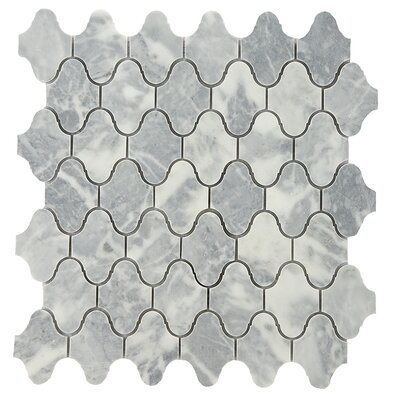 Milford 2 x 2 Marble Mosaic Tile in Gray/White