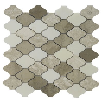 Namib Desert 2 x 2 Marble Mosaic Tile in Cream/Beige/White