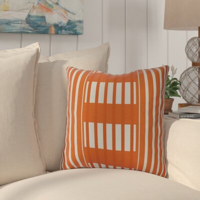 Bartow Beach Blanket Outdoor Throw Pillow Size: 16 H x 16 W x 3 D, Color: Orange