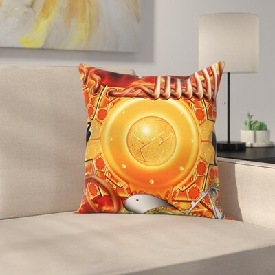 Steampunk Retro Square Pillow Cover Size: 24 x 24