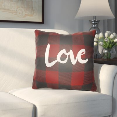 Lyle Indoor/Outdoor Throw Pillow Size: 18 H x 18 W x 4 D, Color: Red