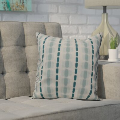 Leal Watercolor Stripe Indoor/Outdoor Throw Pillow Size: 16 H x 16 W, Color: Teal