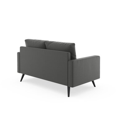 Rupert Loveseat Upholstery: Graphite, Finish: Chrome