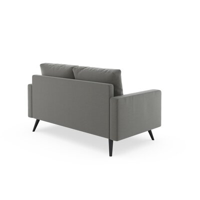 Rupert Loveseat Upholstery: Pebble, Finish: Chrome
