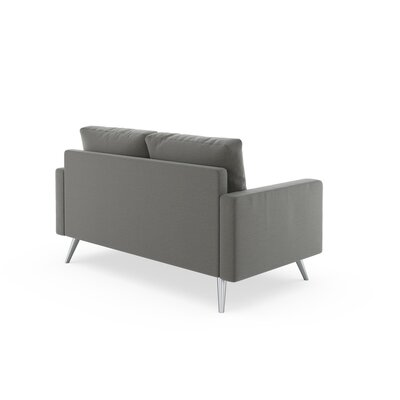 Rupert Loveseat Upholstery: Pebble, Finish: Black