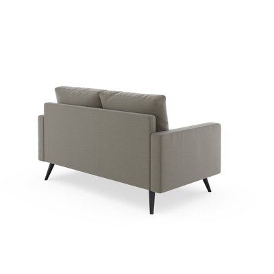 Rupert Loveseat Upholstery: Smoke, Finish: Chrome