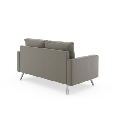 Rupert Loveseat Upholstery: Smoke, Finish: Black