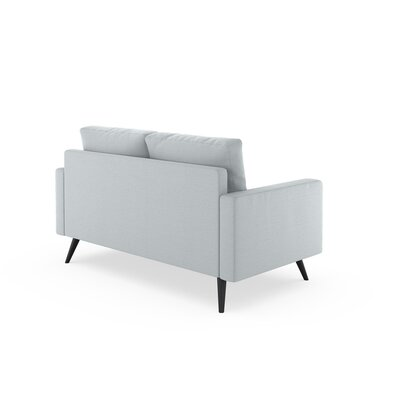 Rupert Loveseat Upholstery: Light Steel, Finish: Chrome
