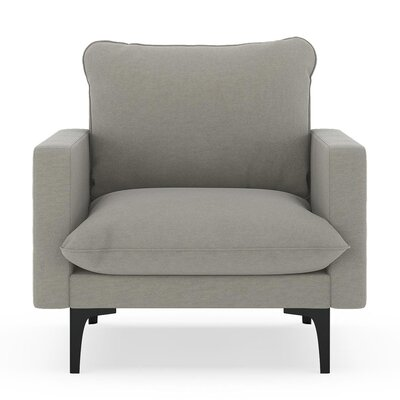 Russell Armchair Upholstery: Cinder Gray, Finish: Black