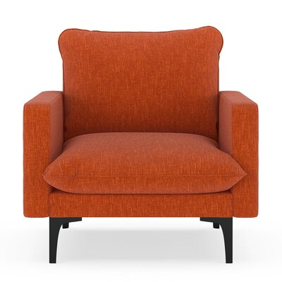 Russell Armchair Upholstery: Poppy Orange, Finish: Black