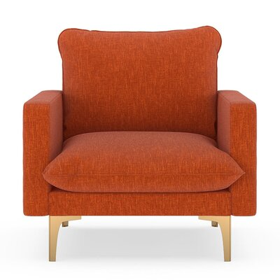 Russell Armchair Upholstery: Poppy Orange, Finish: Chrome