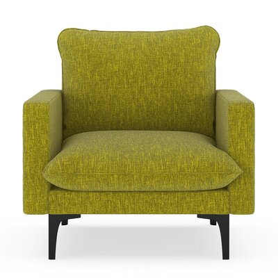 Russell Armchair Upholstery: Avocado, Finish: Black