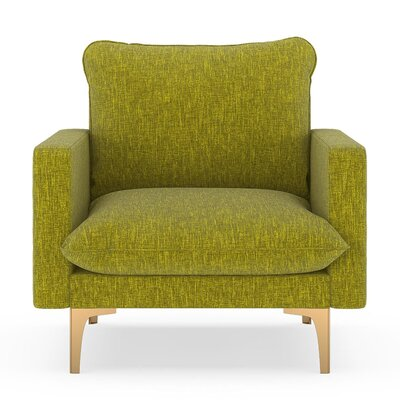 Russell Armchair Upholstery: Avocado, Finish: Chrome