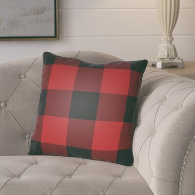 Comeaux Outdoor Throw Pillow Size: 18 H x 18 W x 4 D, Color: Red / Black