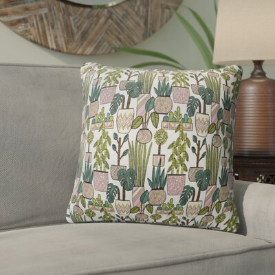Charlise Plant Throw Pillow Size: 24 H x 24 W
