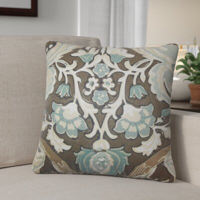 Dolton Square Linen Throw Pillow Color: Dark Brown