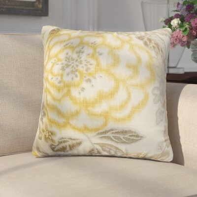 Runa Floral Cotton Throw Pillow