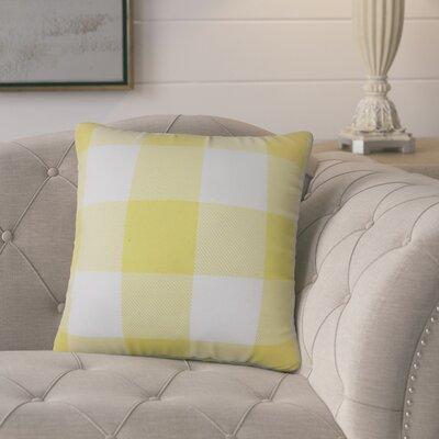 Pompa Plaid Cotton Throw Pillow Color: Yellow