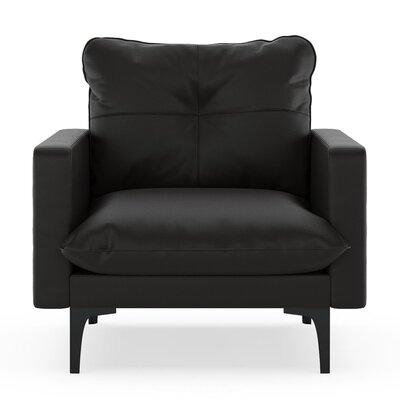 Selden Armchair Upholstery: Onyx, Finish: Black