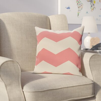 Milo Throw Pillow Size: 18 H x 18 W, Color: Coral / Latte