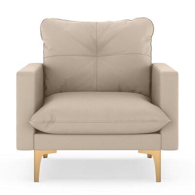 Selden Armchair Upholstery: Oat, Finish: Chrome
