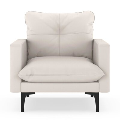 Selden Armchair Upholstery: Ivory, Finish: Black