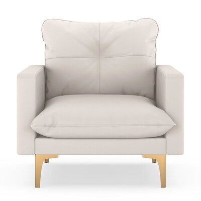 Selden Armchair Upholstery: Ivory, Finish: Chrome
