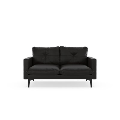 Selden Loveseat Upholstery: Onyx, Finish: Black