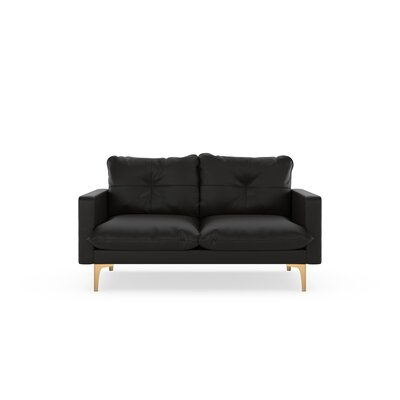 Selden Loveseat Upholstery: Onyx, Finish: Chrome